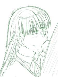 絢辻さんのフェラチオ+鼻フック